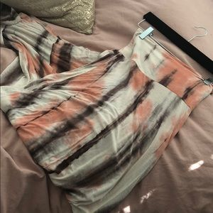 Dresses & Skirts - Coral Tie Dye Maxi Skirt